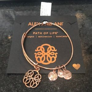 Alex and Ani Path of Life Bangle rose gold